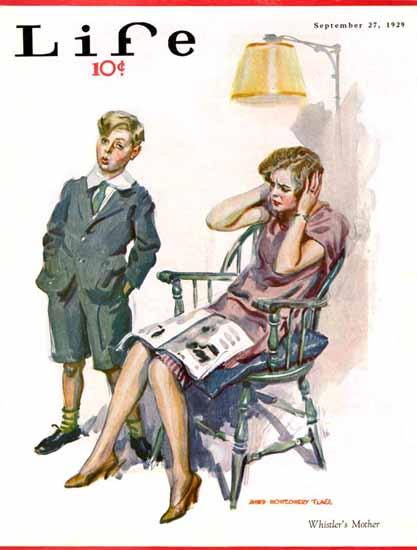 James Montgomery Flagg Life Humor Magazine 1929-09-27 Copyright | Life Magazine Graphic Art Covers 1891-1936