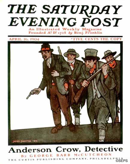 James Preston Saturday Evening Post Cover 1904_04_16 | The Saturday Evening Post Graphic Art Covers 1892-1930