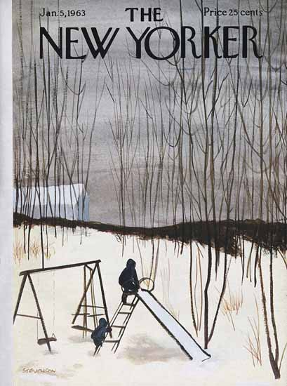 James Stevenson The New Yorker 1963_01_05 Copyright | The New Yorker Graphic Art Covers 1946-1970