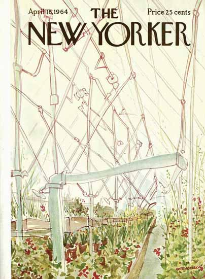 James Stevenson The New Yorker 1964_04_18 Copyright | The New Yorker Graphic Art Covers 1946-1970
