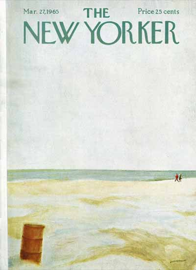 James Stevenson The New Yorker 1965_03_27 Copyright | The New Yorker Graphic Art Covers 1946-1970
