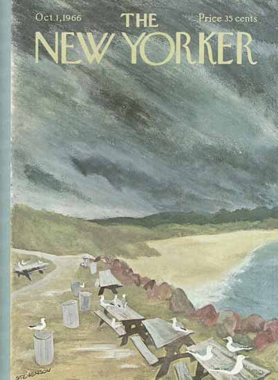 James Stevenson The New Yorker 1966_10_01 Copyright | The New Yorker Graphic Art Covers 1946-1970
