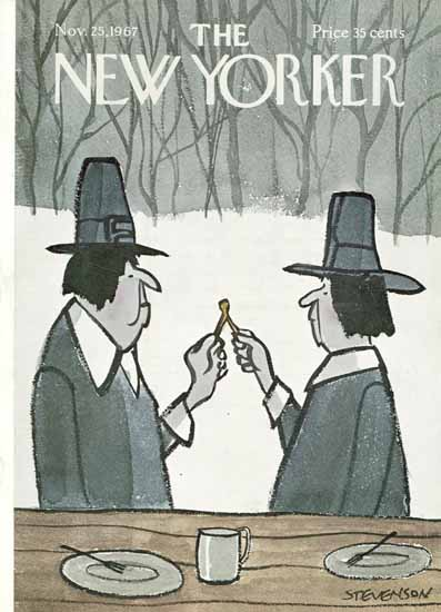 James Stevenson The New Yorker 1967_11_25 Copyright | The New Yorker Graphic Art Covers 1946-1970