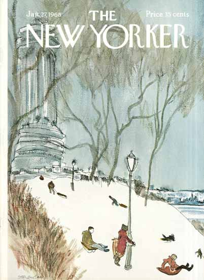 James Stevenson The New Yorker 1968_01_27 Copyright   The New Yorker Graphic Art Covers 1946-1970