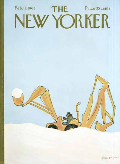 James Stevenson The New Yorker 1968_02_17 Copyright   The New Yorker Graphic Art Covers 1946-1970
