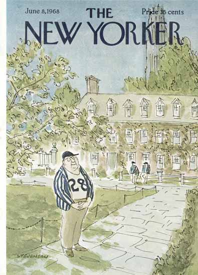 James Stevenson The New Yorker 1968_06_08 Copyright | The New Yorker Graphic Art Covers 1946-1970
