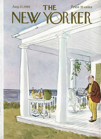 James Stevenson The New Yorker 1968_08_31 Copyright | The New Yorker Graphic Art Covers 1946-1970