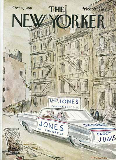 James Stevenson The New Yorker 1968_10_05 Copyright | The New Yorker Graphic Art Covers 1946-1970