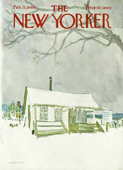 James Stevenson The New Yorker 1969_02_15 Copyright | The New Yorker Graphic Art Covers 1946-1970