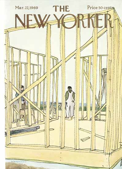 James Stevenson The New Yorker 1969_03_22 Copyright | The New Yorker Graphic Art Covers 1946-1970