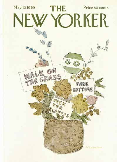 James Stevenson The New Yorker 1969_05_10 Copyright | The New Yorker Graphic Art Covers 1946-1970