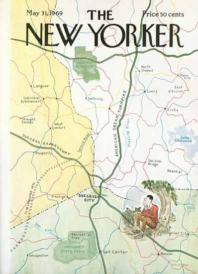 James Stevenson The New Yorker 1969_05_31 Copyright | The New Yorker Graphic Art Covers 1946-1970