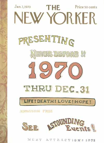 James Stevenson The New Yorker 1970_01_03 Copyright | The New Yorker Graphic Art Covers 1946-1970