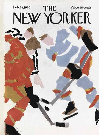 James Stevenson The New Yorker 1970_02_28 Copyright | The New Yorker Graphic Art Covers 1946-1970