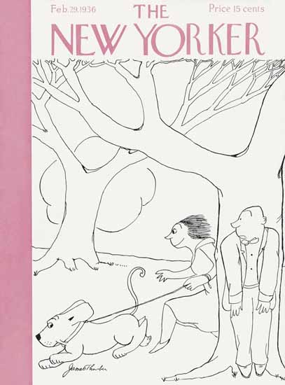 James Thurber The New Yorker 1936_02_29 Copyright | The New Yorker Graphic Art Covers 1925-1945