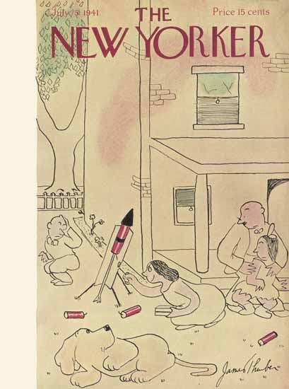 James Thurber The New Yorker 1941_07_05 Copyright | The New Yorker Graphic Art Covers 1925-1945