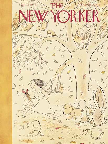 James Thurber The New Yorker 1942_10_03 Copyright | The New Yorker Graphic Art Covers 1925-1945