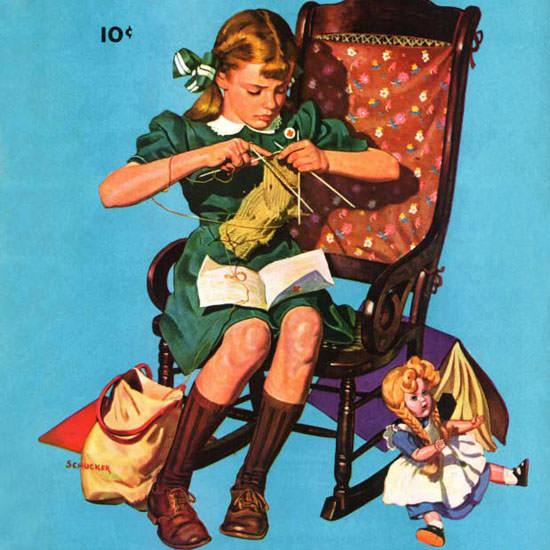 James W Schucker Saturday Evening Post War 1942_06_06 Copyright crop   Best of 1940s Ad and Cover Art