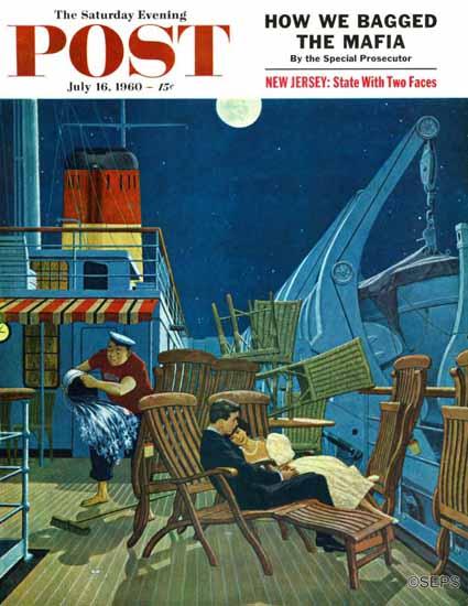 James Williamson Saturday Evening Post Romantic Night 1960_07_16 | The Saturday Evening Post Graphic Art Covers 1931-1969
