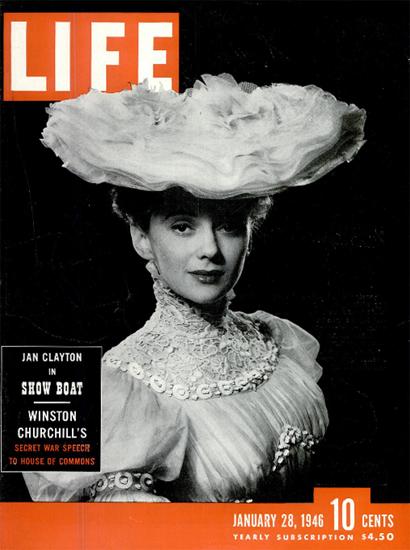 Jan Clayton in Show Boat 28 Jan 1946 Copyright Life Magazine | Life Magazine BW Photo Covers 1936-1970