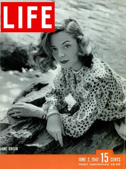 Jane Greer 2 Jun 1947 Copyright Life Magazine | Life Magazine BW Photo Covers 1936-1970