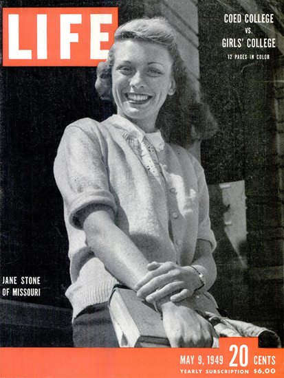 Jane Stone of Missouri 9 May 1949 Copyright Life Magazine | Life Magazine BW Photo Covers 1936-1970