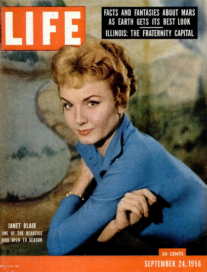 Janet Blair opens TV Season 24 Sep 1956 Copyright Life Magazine | Life Magazine Color Photo Covers 1937-1970