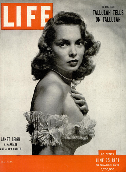 Janet Leigh Marriage New Career 25 Jun 1951 Copyright Life Magazine | Life Magazine BW Photo Covers 1936-1970