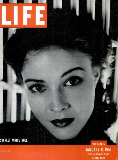 Janice Rule Starlet 8 Jan 1951 Copyright Life Magazine   Life Magazine BW Photo Covers 1936-1970