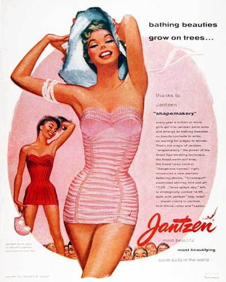 Jantzen Bathing Beauties ShapeMakery | Sex Appeal Vintage Ads and Covers 1891-1970