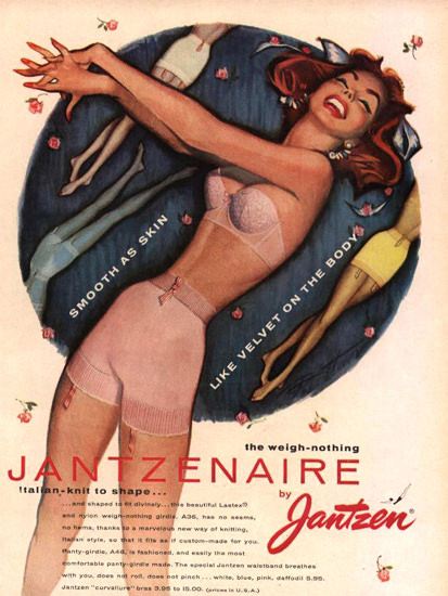 Jantzen Jantzenaire Lingerie Italien Knit Shape | Sex Appeal Vintage Ads and Covers 1891-1970