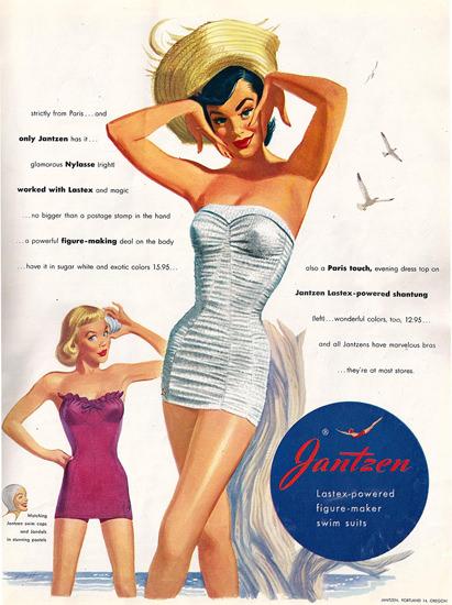Jantzen Lastex Powered Figure Maker 1951 | Sex Appeal Vintage Ads and Covers 1891-1970