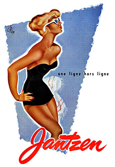 Jantzen Linge Hors Ligne Lingerie | Sex Appeal Vintage Ads and Covers 1891-1970