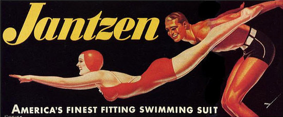 Jantzen Logo Americas Finest 1936 George Petty | Sex Appeal Vintage Ads and Covers 1891-1970
