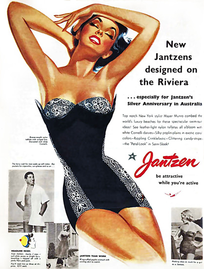 Jantzen Riviera Silver Anniversary Australia | Sex Appeal Vintage Ads and Covers 1891-1970