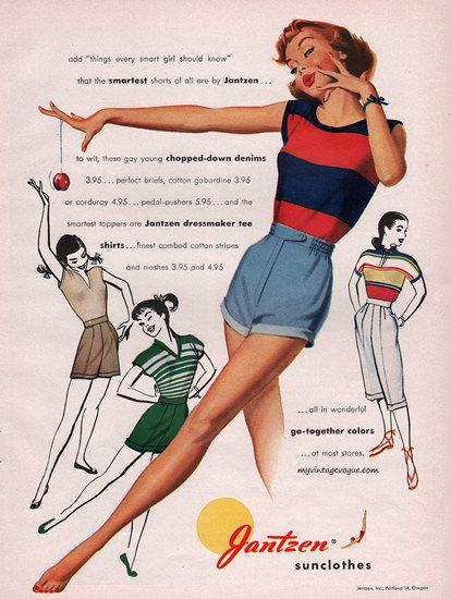 Jantzen Sun Clothes Go-Together Swim Suits | Sex Appeal Vintage Ads and Covers 1891-1970