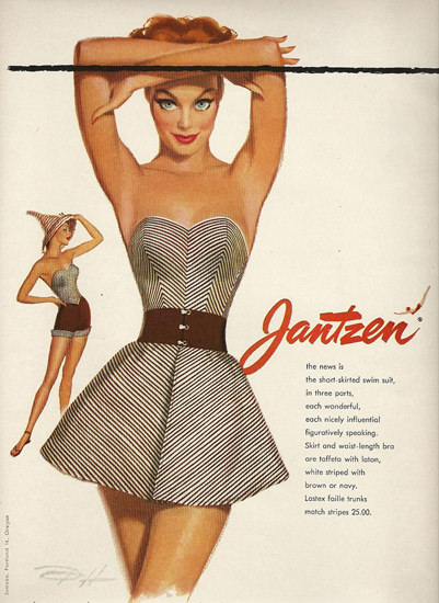 Jantzen Swim Suits Figuratively Speaking | Sex Appeal Vintage Ads and Covers 1891-1970