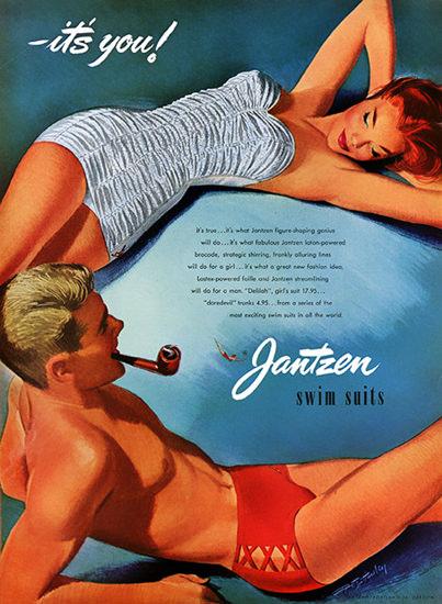 Jantzen Swim Suits Its You Portland Oregon | Sex Appeal Vintage Ads and Covers 1891-1970
