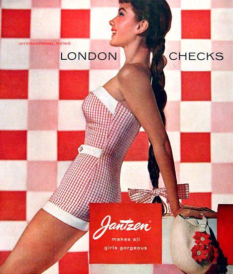 Jantzen Swim Suits London Checks Portland | Sex Appeal Vintage Ads and Covers 1891-1970