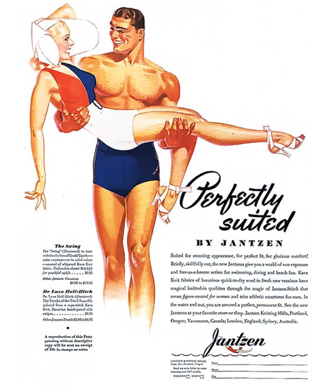 Jantzen Swim Suits Perfectly Suited Portland George Petty | Sex Appeal Vintage Ads and Covers 1891-1970