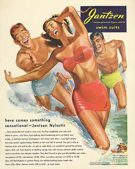 Jantzen Swim Suits Something Sensational | Sex Appeal Vintage Ads and Covers 1891-1970