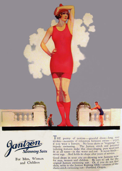 Jantzen Swimming Suits For Men Woman Children | Sex Appeal Vintage Ads and Covers 1891-1970