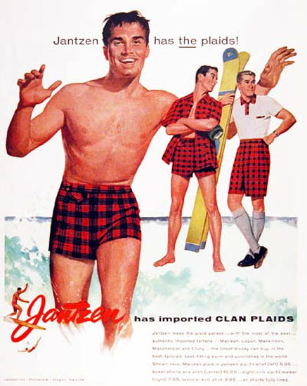 Jantzen Water Ski Has Importent Clan Plaids | Sex Appeal Vintage Ads and Covers 1891-1970