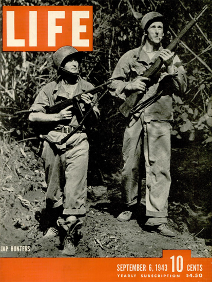 Jap Hunters 6 Sep 1943 Copyright Life Magazine | Life Magazine BW Photo Covers 1936-1970