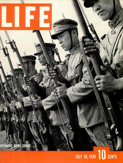 Japanese Home Guard 10 Jul 1939 Copyright Life Magazine   Life Magazine BW Photo Covers 1936-1970