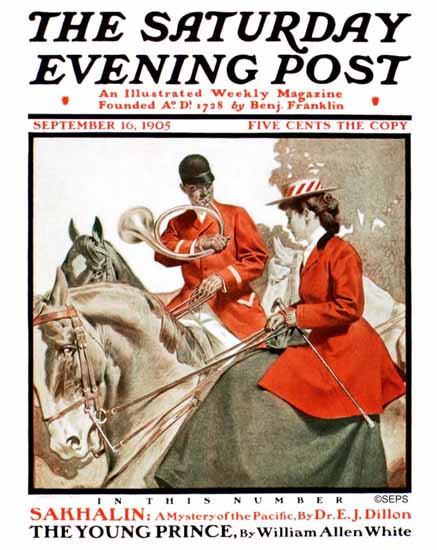 Jay Vaughn McFall Saturday Evening Post Battue 1905_09_16 | The Saturday Evening Post Graphic Art Covers 1892-1930