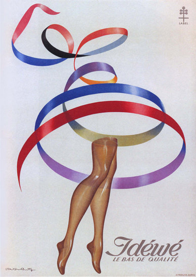 Jdewe Le Bas De Qualite France Stockings | Sex Appeal Vintage Ads and Covers 1891-1970