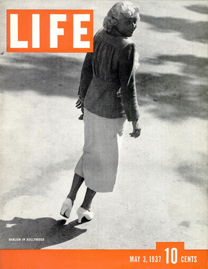 Jean Harlow in Hollywood 3 May 1937 Copyright Life Magazine | Life Magazine BW Photo Covers 1936-1970