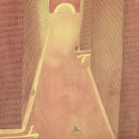 Jean-Michel Folon The New Yorker 1968_11_16 Copyright crop   Best of Vintage Cover Art 1900-1970