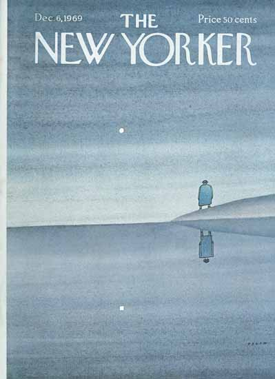 Jean-Michel Folon The New Yorker 1969_12_06 Copyright | The New Yorker Graphic Art Covers 1946-1970